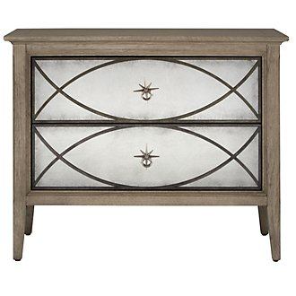 Marquesa Gray Mirrored Nightstand