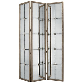 Marquesa Gray Mirrored Screen