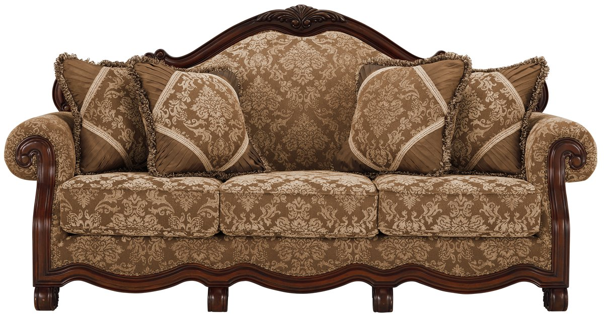 City Furniture Regal Dark Tone Fabric Sofa