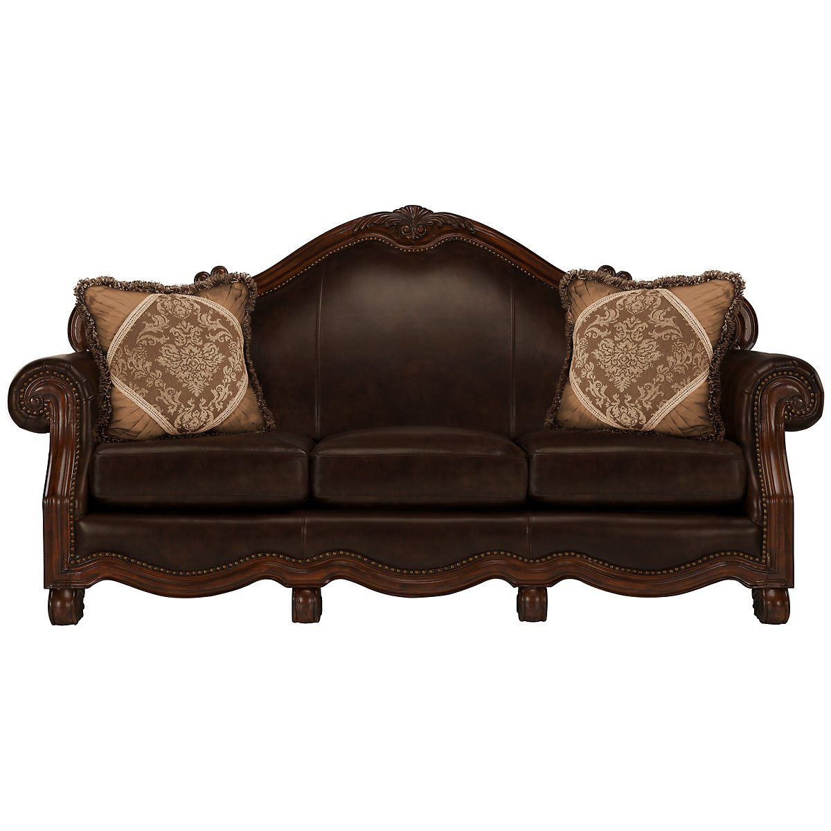 city furniture regal dark tone leather sofa. Black Bedroom Furniture Sets. Home Design Ideas