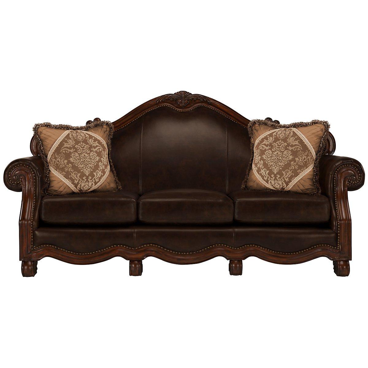 city furniture regal dark tone leather sofa. Black Bedroom Furniture Sets. Home Design Ideas