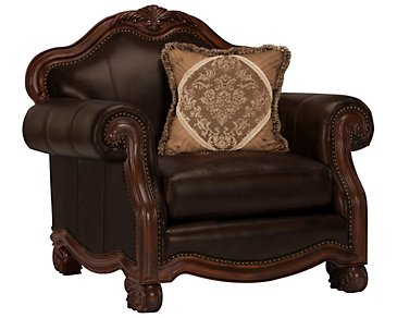 Regal Dark Tone Leather Chair