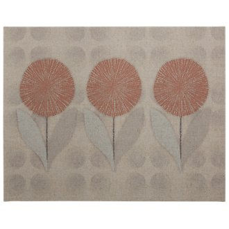 Flowers Orange Canvas Wall Art