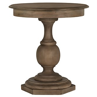 Haddie Round Light Tone Nightstand