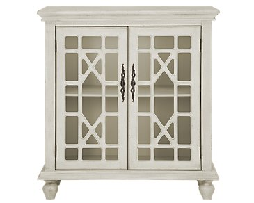 Alexis White Two-Door Cabinet