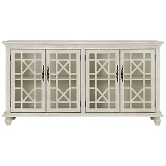 Alexis White Four-Door Cabinet