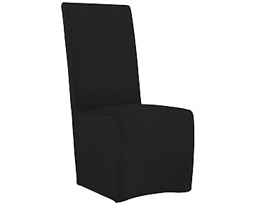 Langley Black Upholstered Side Chair