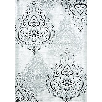 Bella White 5X8 Area Rug