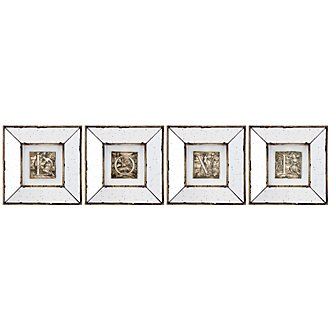 Love Mirrored Set Of 4 Framed Wall Art