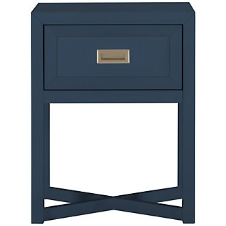Ryder Dark Blue Nightstand