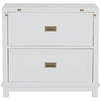 Ryder White Flip-Top Nightstand