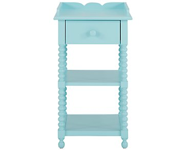 Livie Light Blue Nightstand