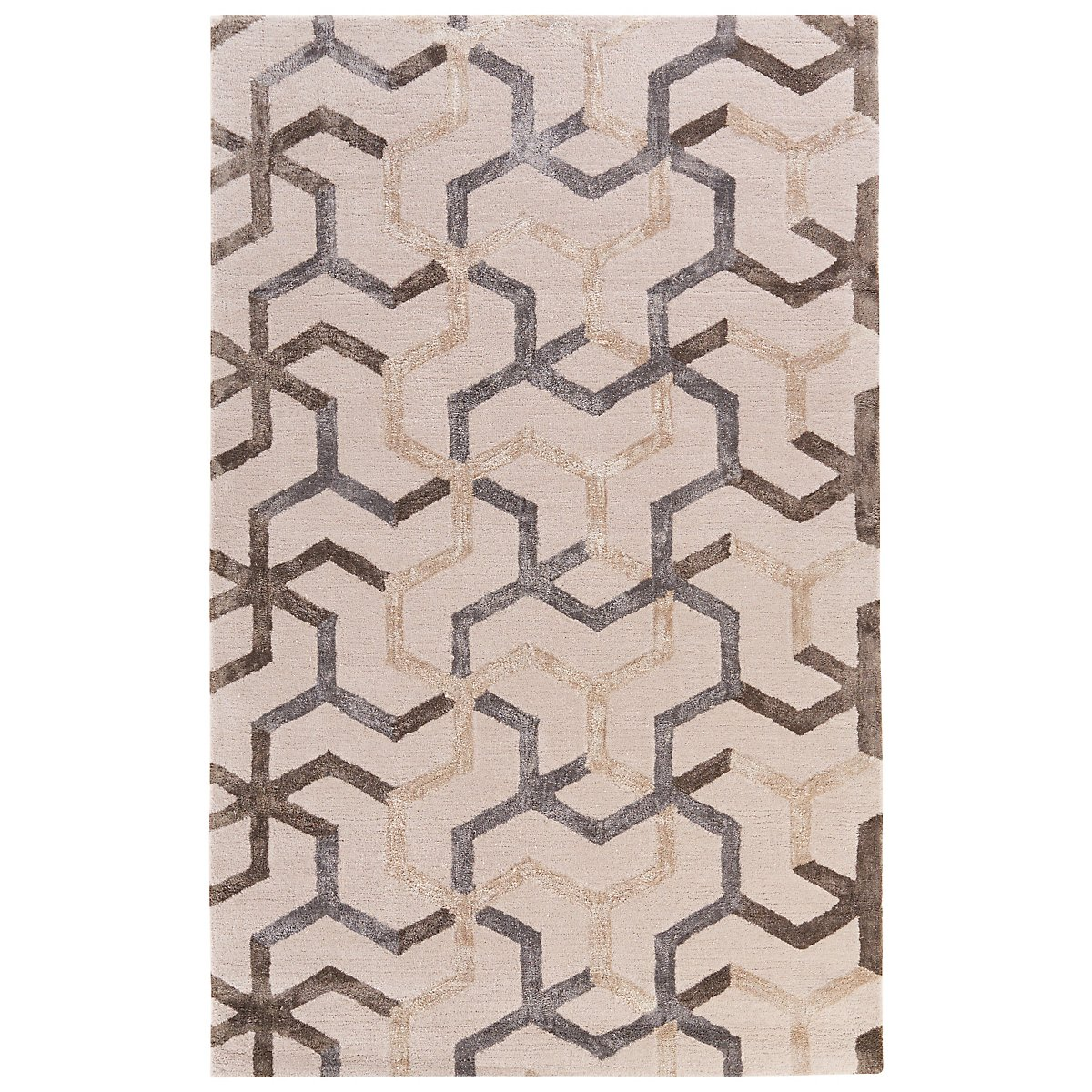 Addy Lt Beige 5X8 Area Rug