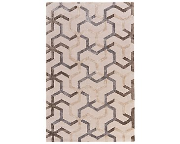 Addy Light Beige 5X8 Area Rug