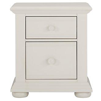 Quinn White Drawer Nightstand