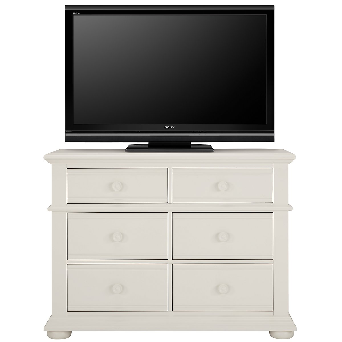 City Furniture: Quinn White Small Dresser & Mirror