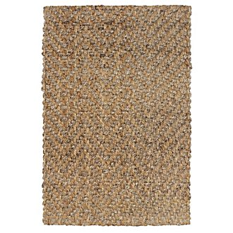 Herringbone Light Brown 5X8 Area Rug