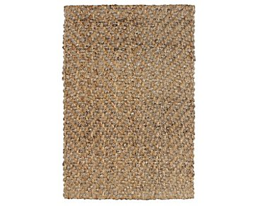 Herringbone Light Brown 8X10 Area Rug