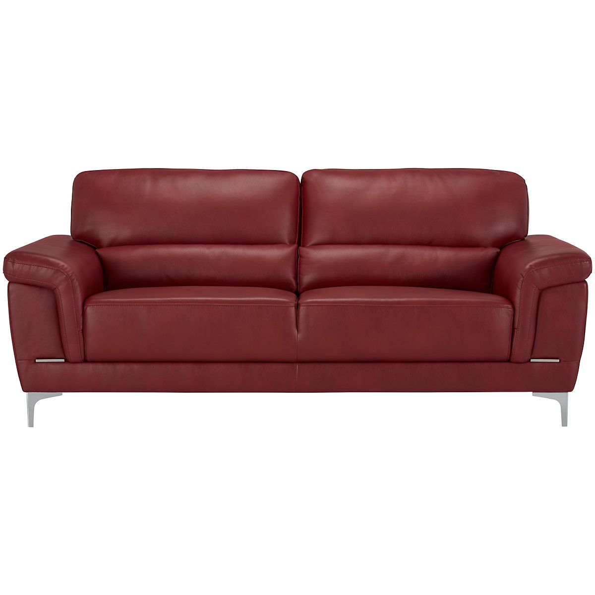 City furniture enzo red microfiber sofa for Microfiber sectional sofa