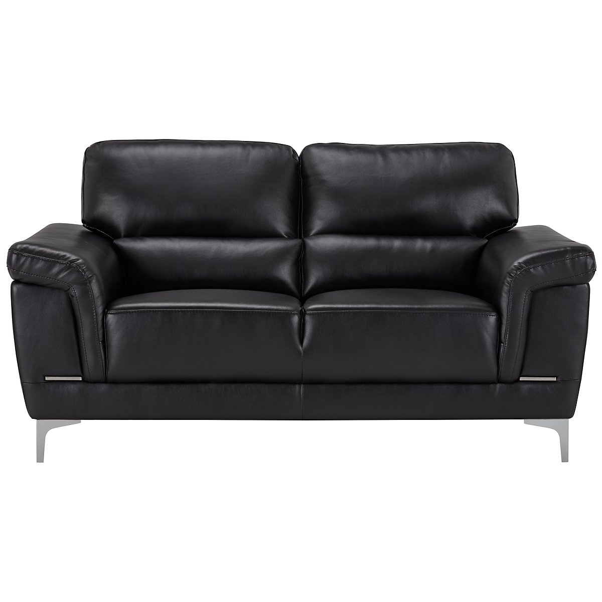 city furniture enzo black microfiber loveseat