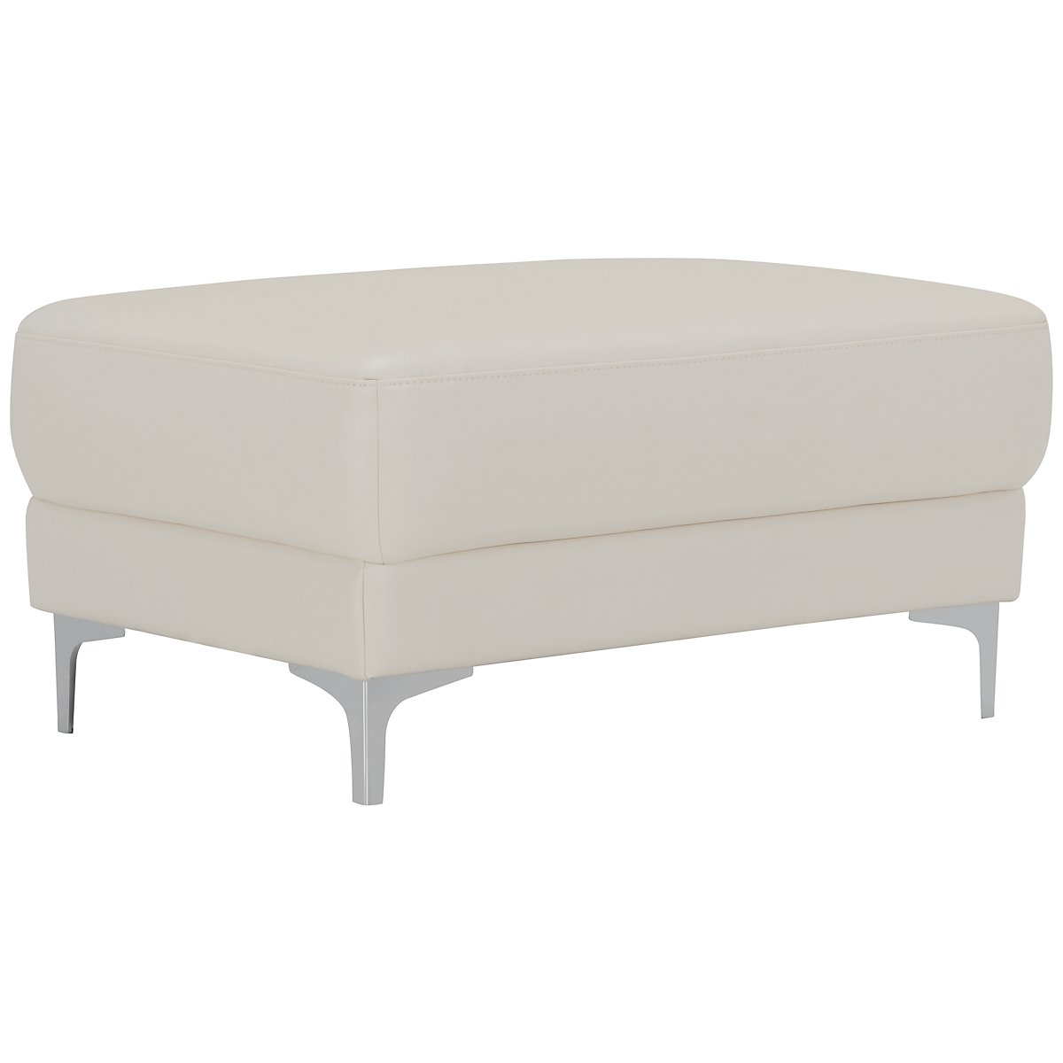 City Furniture Enzo Light Taupe Microfiber Ottoman