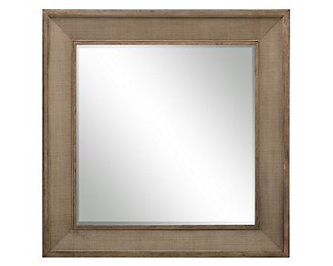 Mirabelle Light Tone Woven Accent Mirror