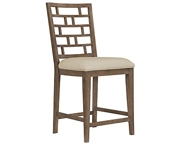 "Mirabelle Light Tone Wood 24"" Barstool"