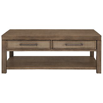 Mirabelle Light Tone Rectangular Coffee Table