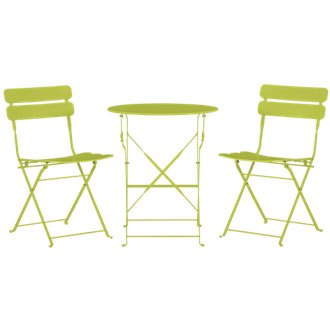 Roma Green Round Table & 2 Chairs