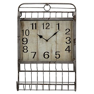 Janel Metal Rectangular Wall Clock