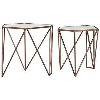 Jade Gold Set Of 2 Accent Table