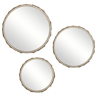 Gavin Light Beige Set Of 3 Mirror