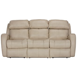 Finn Lt Beige Microfiber Power Reclining Sofa