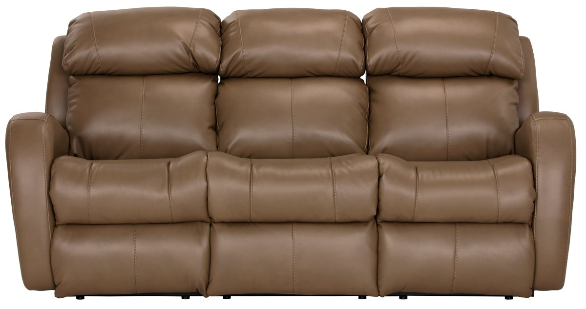 Brown Dining Room City Furniture Finn Brown Microfiber Power Reclining Sofa