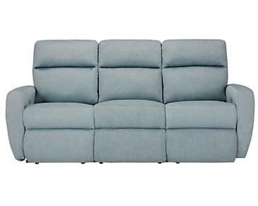 Destin Light Teal Power Reclining Sofa