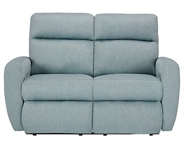 Destin Light Teal Power Reclining Loveseat