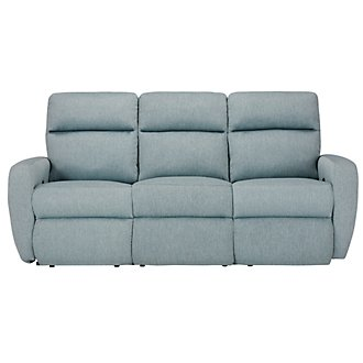 Destin Lt Teal Reclining Sofa
