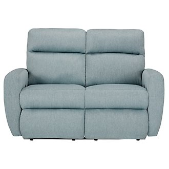 Destin Light Teal Reclining Loveseat