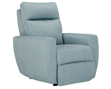 Destin Light Teal Power Rocker Recliner
