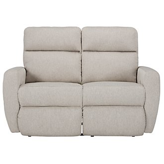Destin Light Taupe Power Reclining Loveseat