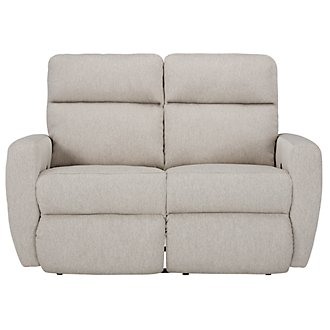 Destin Light Taupe Reclining Loveseat