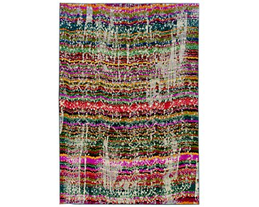 Kaleidoscop Multicolored 8X11 Area Rug