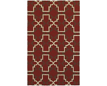 Atrium Red Indoor/Outdoor 5x8 Area Rug