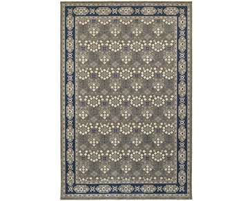 Richmond Dark Blue 5X8 Area Rug