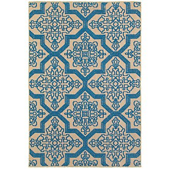 Cayman Blue Indoor/Outdoor 5x8 Area Rug