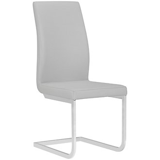 Axel Light Gray Upholstered Side Chair