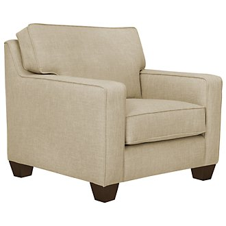 York Beige Fabric Chair