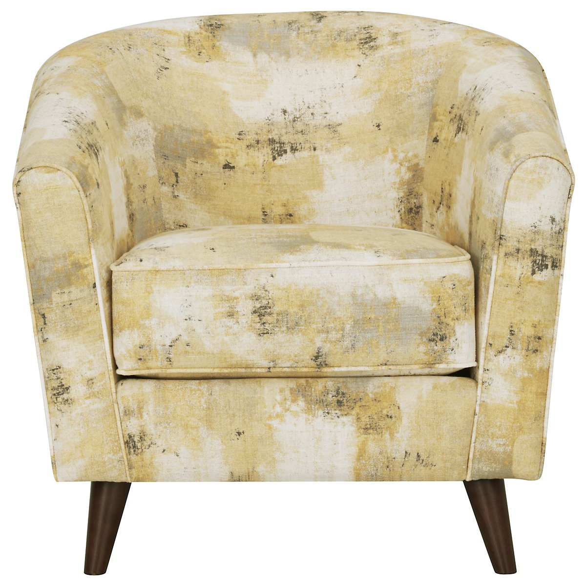 City Furniture Antalya Yellow Fabric Accent Chair