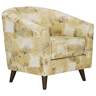 Antalya Yellow Fabric Accent Chair
