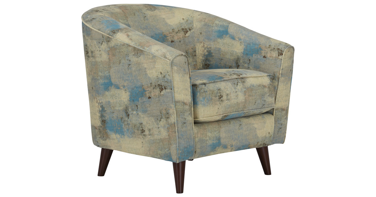 City Furniture Antalya Teal Fabric Accent Chair